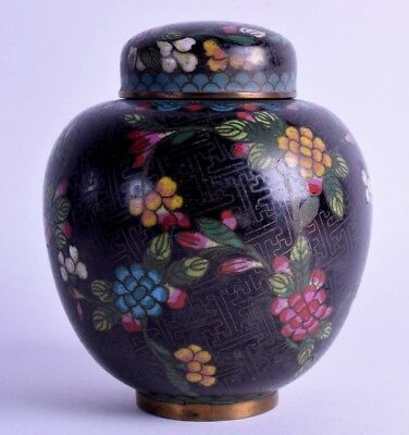 chinese cloisonne vase - early 20th c - republican period ginger jar cloisonne
