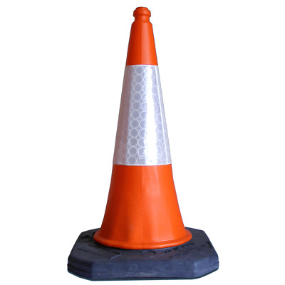 10 x Road Traffic Safety Cones, Two piece plastic cone