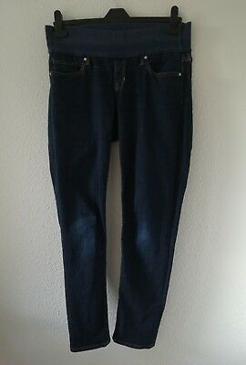 Gap maternity skinny jeans with Stretchy inset panel blue Size 8