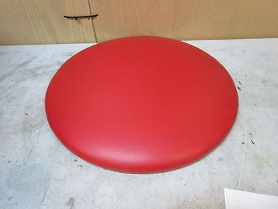 Red Padded Round Cushion For Bar Stool Or Dining Room Chair 16X16