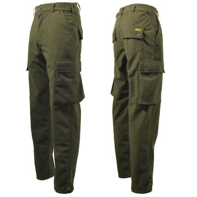 Game Stealth Trousers brushed  Warm Waterproof Green Hunting Shooting Fishing