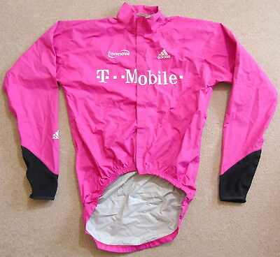 "Rider-Issued T-Mobile Windproof Shell Jacket. Adidas Medium (Size 3) 40"" Chest"