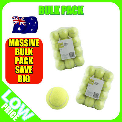 36 or 72 Tennis Balls Bulk Pack - Backyard Exercise Launcher Game Sports