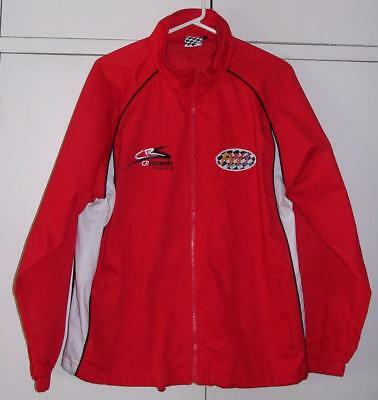 FW1 Racing Formula RED w Black White Cotton Zip up JACKET sz S CRSaideria Racing
