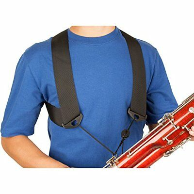 Protec A301MED Bassoon Nylon Harness, MEDIUM with Open Metal Hook
