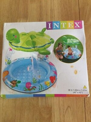 Baby Infant Toddler Paddling Pool With Sun Shade.