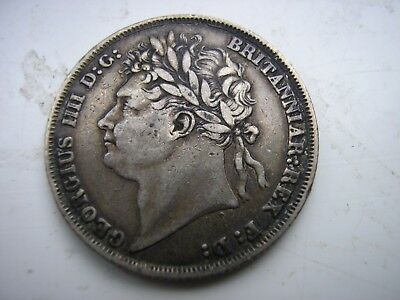 1825 George IV Silver Shilling Coin - Great Britain