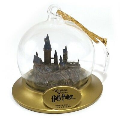 Wizarding World of Harry Potter Holiday Ornament Glass Hogwarts Miniature Castle