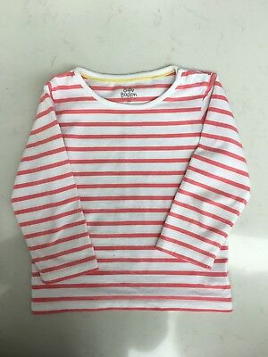 Girls Baby Boden Pink And White Stripe Age 2-3
