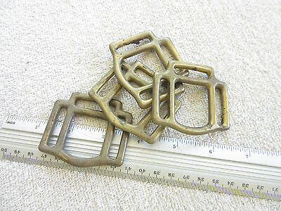 ***  Leathercraft - Old Brass Halter Plates X 4