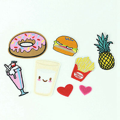 8Pcs/Set Embroidery Sewing&Iron On Patch Badge Fabric Applique Decor Handcrafts