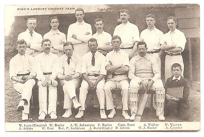 8 original Kings Langley cards incl Cricket Club, Canal, Shops, Pubs.