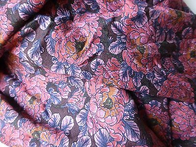 LIBERTY Dress Fabric DUFOUR VISCOSE JERSEY Floral - By the Metre