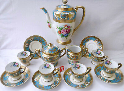 Quality Antique Noritake  Roses Complete Coffee Set