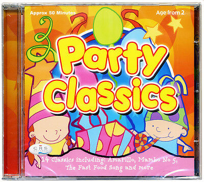 Kids Party Classics CD   Kids Pop, mini disco, childrens, songs *NEW & WRAPPED*