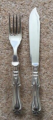 Silver Plated Fish Knife and Fork