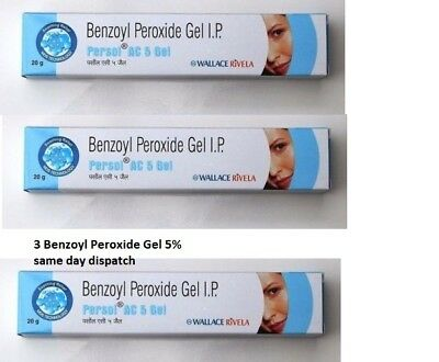 3× Benzoyl Peroxide Gel or Soap 5% Treatment for Acne&Blemishes Spots