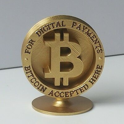 BITCOIN FRONT COUNTER SIGN - DIAMETER 90mm - POS DISPLAY FROM POSIBUY