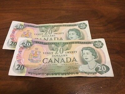 Canada 20 twenty dollar bill banknote currency canadian 1979