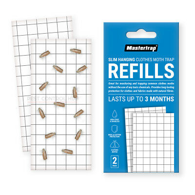 Mastertrap Hanging killer Clothes Moth Trap Refills Pack of 2