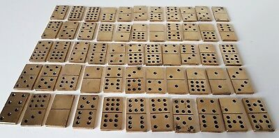 Vintage Brass Set Of Dominoes Collectible