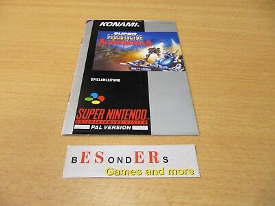 SNES Super Nintendo, SUPER PROBOTECTOR, Alien rebels , ANLEITUNG - TOP