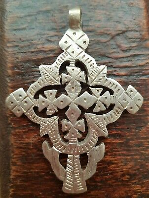 Hand Crafted Ethiopian Coptic Christian Cross Pendant, ,Orthodox,African