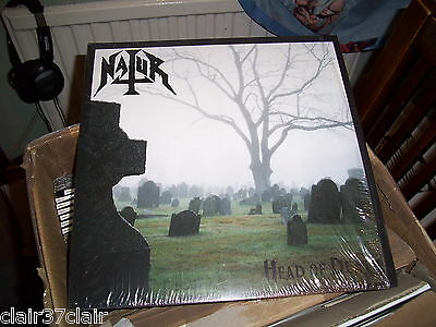 NATUR head of death lp gatefold pop up sleeve skull white only 100 made