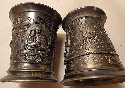 WMF Silver plated Cups with Religious motive 1900
