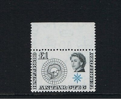 British Antarctic  -  1963  Antarctic Map - SG15  - £1  Black & Blue -  Mint N/H