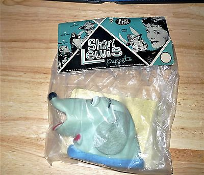 RARE VTG 1960 IDEAL TOY CO.Shari Lewis Puppets Hush Puppy in sealed package