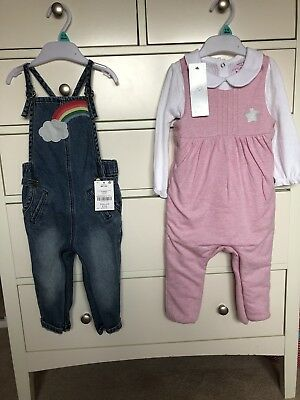 Next And F&f Dungaree Bundle 9-12 Months