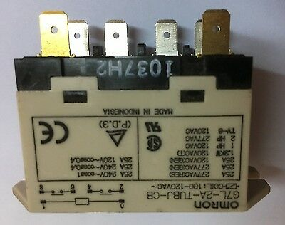 OMRON G7L-2A-TUBJ-CB Enclosed Power Relay, 25A, 100/120VAC, 2PST N.O. Contactor