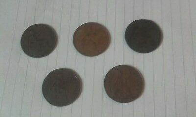 old one penny coin
