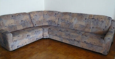 Sofa couch 3 sitzer kolonialstil eur 25 00 picclick de for Eckcouch schlaffunktion bettkasten