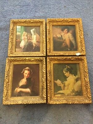 Antique Collection Of Pictures, Framed