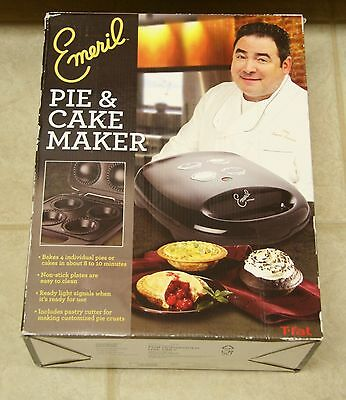 Emeril by T-fal SM2205 Electric Nonstick Plates Cake Pie Maker~ NEW