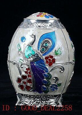 Chinese Cloisonne Hand carved  Toothpick Box JTL021