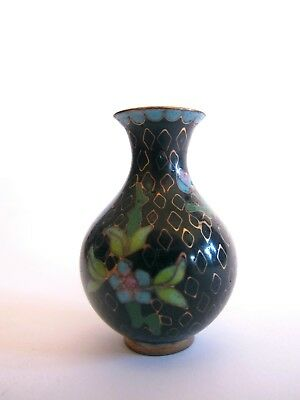 Edel ältere Cloisonne Vase Bronze Messing aus Asien - China Asiatika
