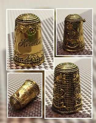 "Franklin Mint Silver Thimble ""Wisdom"""