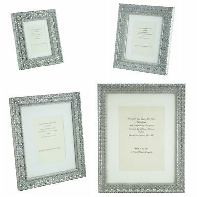 Ornate Silver Shabby Chic Vintage Picture Frame single mount 5x3.5 - 16x12  phot