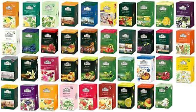 Ahmad Herbal Teas Tea Bags Sachets - Choose From 45+ Varieties inc Selection