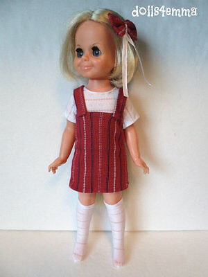 Ideal VELVET Doll Handmade Clothes DRESS, BOOTS, TOP, BOW Fashion NO DOLL d4e