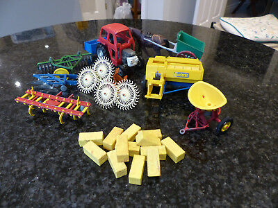 Vintage 1960s/70's Britains Farm Toy machinery collection