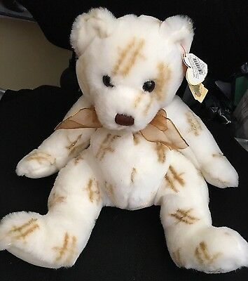 Harrods Ty Stardust Bear Approx 8 Inch Cuddly Soft Beanie Toy With Tags