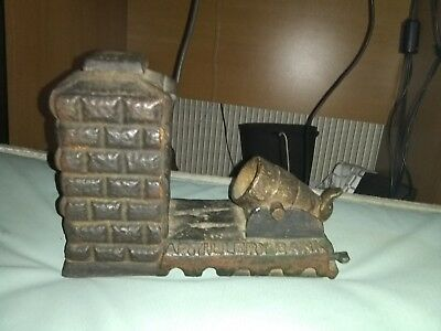 Rare 1892 Antique Cast Iron Stevens Artillery Mechanical Bank