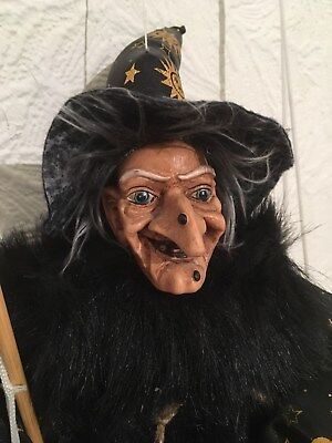 Collectable Mobile Sitting Austrian Folklaw Wicked Witch Figure