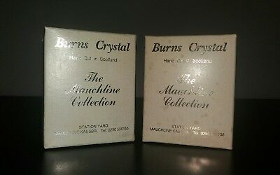 Hand Cut Burns Crystal Whisky Glasses (Boxed)