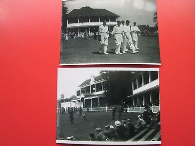 Kent Cricket:  2 Copy Photos -  St. Lawrence Ground Match (early 1920s)