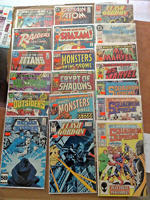 19 Book Lot Of Mixed Dc And Marvel Comics Silver/Bronze